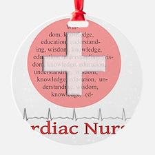 Cardiac Nurse Salmon circle Ornament