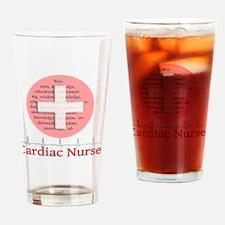 Cardiac Nurse Salmon circle Drinking Glass