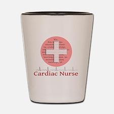 Cardiac Nurse Salmon circle Shot Glass