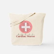 Cardiac Nurse Salmon circle Tote Bag