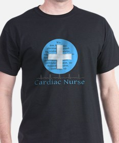 Cardiac Nurse Blue Circle T-Shirt
