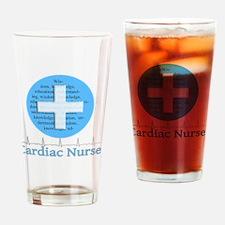 Cardiac Nurse Blue Circle Drinking Glass