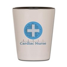 Cardiac Nurse Blue Circle Shot Glass