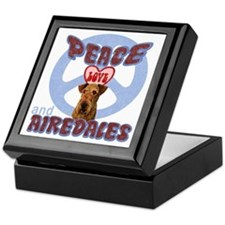 PEACE LOVE and AIREDALES Keepsake Box