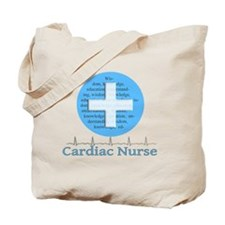 Cardiac Nurse Blue Circle Tote Bag