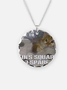 noes squarez Necklace
