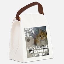 noes squarez Canvas Lunch Bag