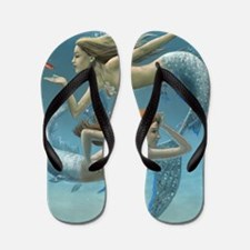 siren sisters for prints Flip Flops