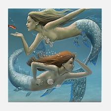siren sisters for prints Tile Coaster