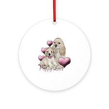 puppy love cocker Round Ornament