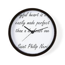 a joyful heart Wall Clock