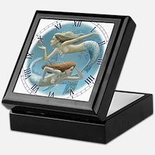 siren sisters clock Keepsake Box