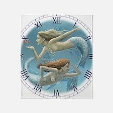 siren sisters clock Throw Blanket