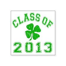 "Class Of 2013 - Shamrock LT Square Sticker 3"" x 3"""