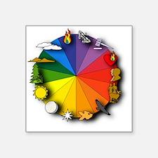 """Color Wheel Square Sticker 3"""" x 3"""""""