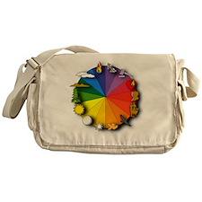 Color Wheel Messenger Bag