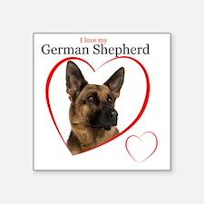 "German Shepherd Square Sticker 3"" x 3"""