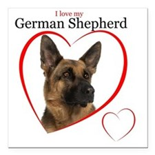 "German Shepherd Square Car Magnet 3"" x 3"""