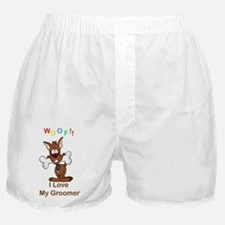 woof I love my groomer copy Boxer Shorts
