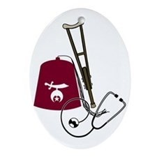 Shriners Oval Ornament