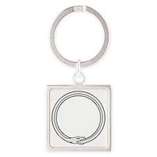 Ouroboros Square Keychain