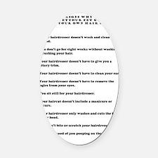 top ten reasons black Oval Car Magnet