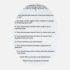 top ten reasons black Oval Ornament