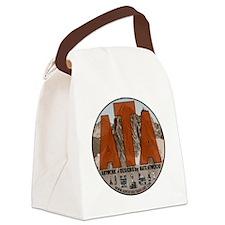 Adventure Travel Art Circle Logo Canvas Lunch Bag