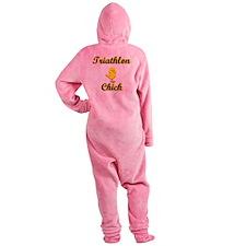 Triathlon Chick Footed Pajamas