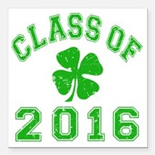 "Class Of 2016 - Shamrock Square Car Magnet 3"" x 3"""