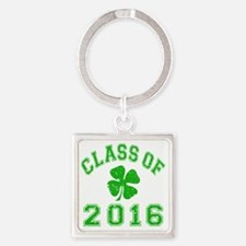 Class Of 2016 - Shamrock LT Green  Square Keychain
