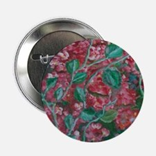 """red flowers 2.25"""" Button"""