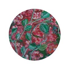 "red flowers 3.5"" Button"