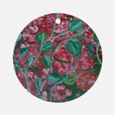 red flowers Round Ornament