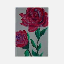 rose Rectangle Magnet