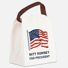 MITT ROMNEY for presidentL Canvas Lunch Bag