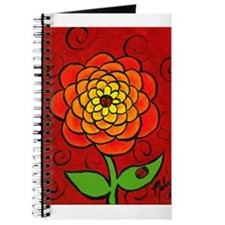 Orange Marigold Flower Journal