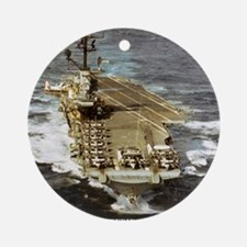 intrepid cvs framed panel print Round Ornament
