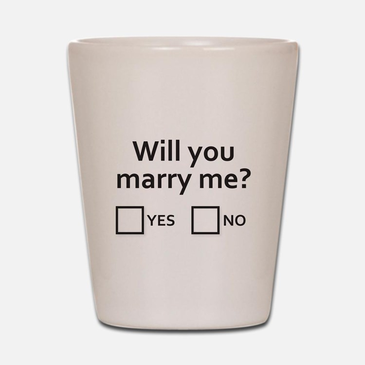 Well will you? Shot Glass