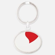 10x10_apparel_IloveSerbia_white Oval Keychain