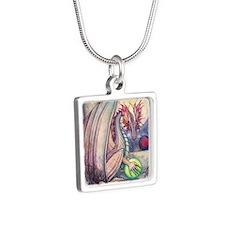 Dragons Perch Silver Square Necklace