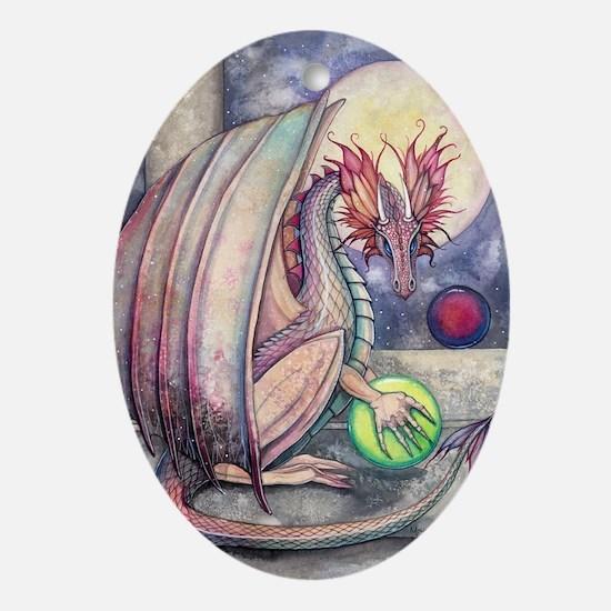 Dragons Perch Oval Ornament