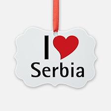 10x10_apparel_IloveSerbia Ornament