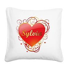 Sylvia-Valentines Square Canvas Pillow