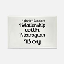 I Am In Relationship With Nicarag Rectangle Magnet
