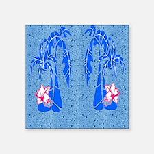 "Wet Palms Square Sticker 3"" x 3"""