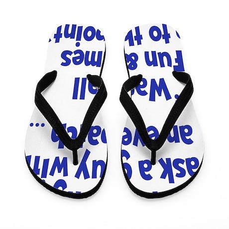blue, Eyepatch 2 Flip Flops