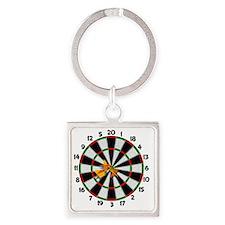 dartboard Square Keychain