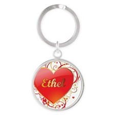 Ethel-Valentines Round Keychain