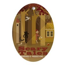 ScaryTales-2x3_magnet Oval Ornament